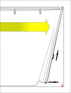 Schiebevorhang in verschiedenen Größen